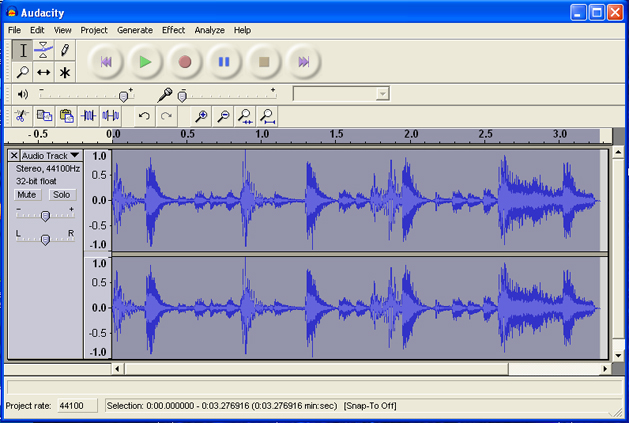 amen break in audacity